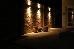 Garden wall lighting